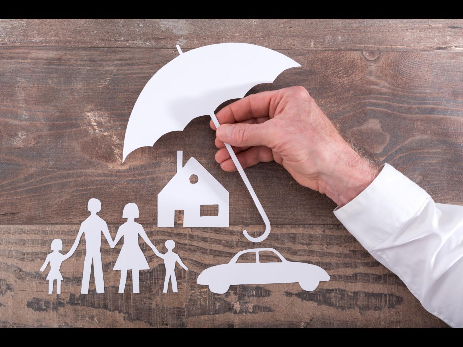 Family & Home under an umbrella image